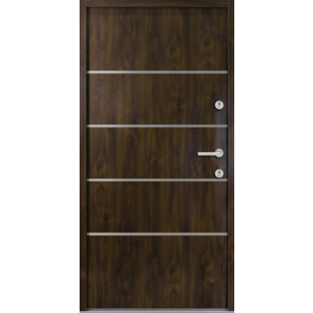 Haustür Nebeneingangstür AT/ATS56 M502 Farbe Nussbaum