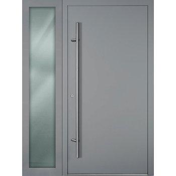 Haustür SL75 M00 Farbe Grau mit Seitenteil Links