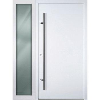 Haustür SL75 M00 Farbe Weiß mit Seitenteil Links