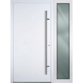 Haustür SL75 M00 Farbe Weiß mit Seitenteil Rechts