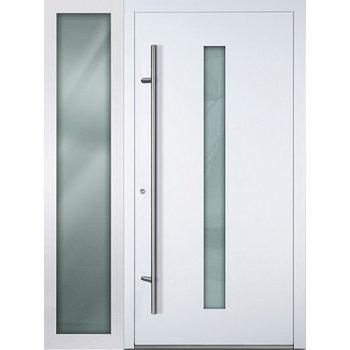 Haustür SL75 M01 Farbe Weiß mit Seitenteil Links