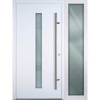 Haustür SL75 M01 Farbe Weiß mit Seitenteil Rechts