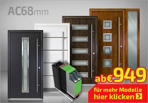 Alu-Haustüren Serie AC 68mm