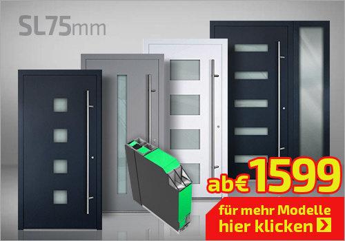 Haustüren ALU 75mm