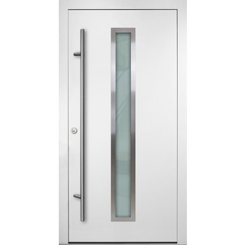 Haustür DS92 M01 Farbe Weiß