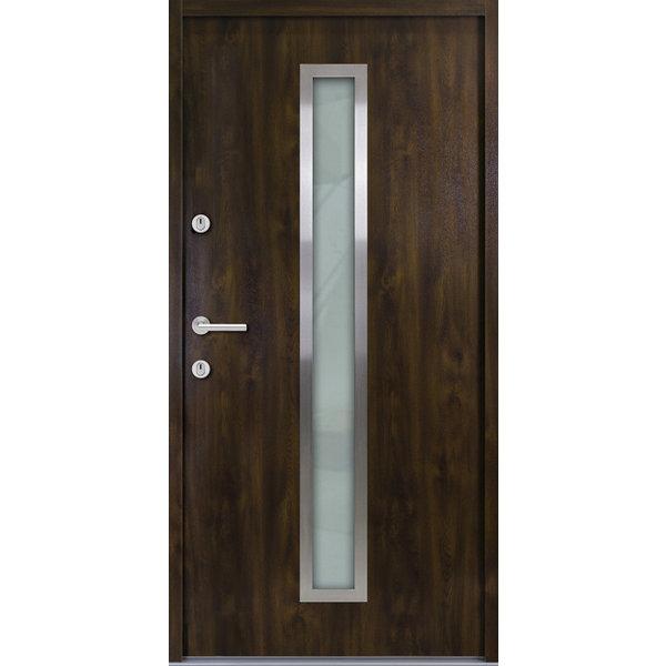 Haustür Nebeneingangstür ATU56 M600 Farbe Nussbaum