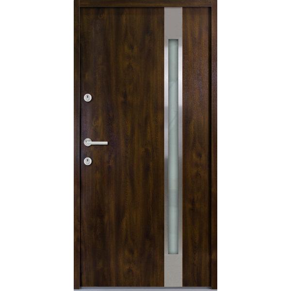 Haustür Nebeneingangstür ATU56 M504 Farbe Nussbaum