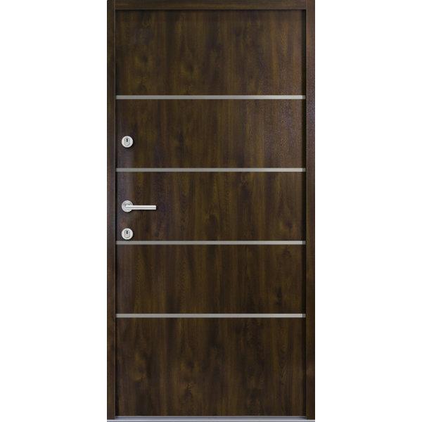 Haustür Nebeneingangstür ATU56 M502 Farbe Nussbaum