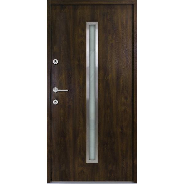 Haustür Nebeneingangstür ATU56 M501 Farbe Nussbaum