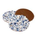 Dragee Geboorte blauw-wit chocolade