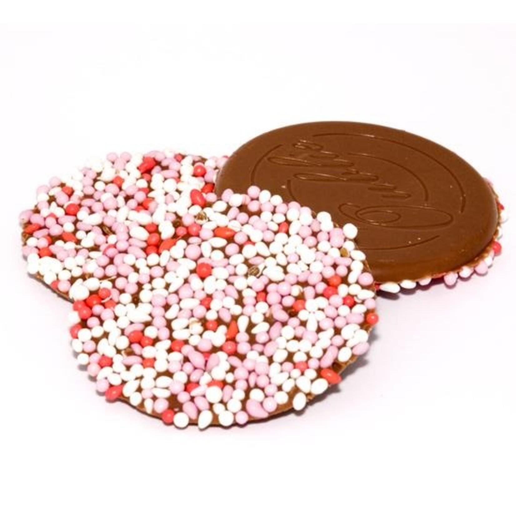Dragee Geboorte roze-wit chocolade