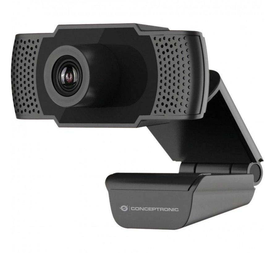 Conceptronic AMDIS webcam 2 MP 1920 x 1080 Pixels USB 2.0 Zw