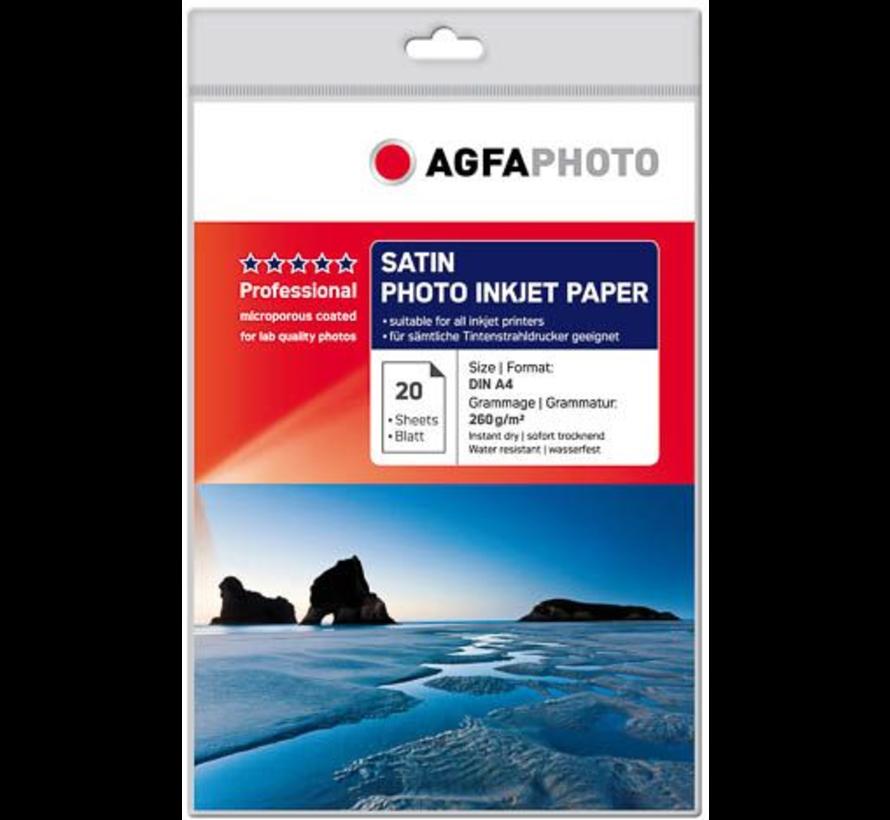 AgfaPhoto Foto papier 1 pak 20 vel 260 grams Inktjet satijn
