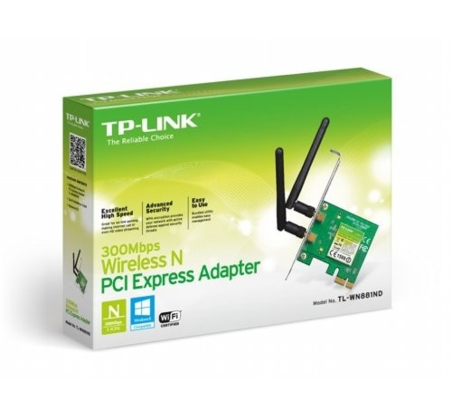 TP-Link TL-WN881ND Wireless-N 300MBPS PCIe Adapter Draft-N