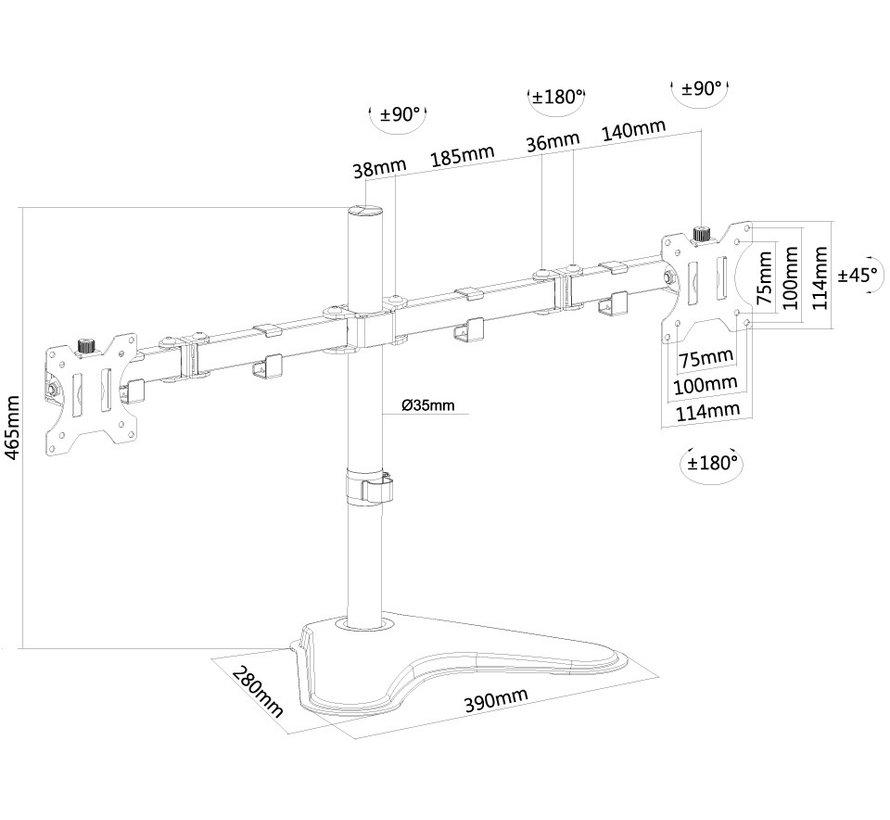 Newstar FPMA-D550DDBLACK Flat Screen Desk Mount