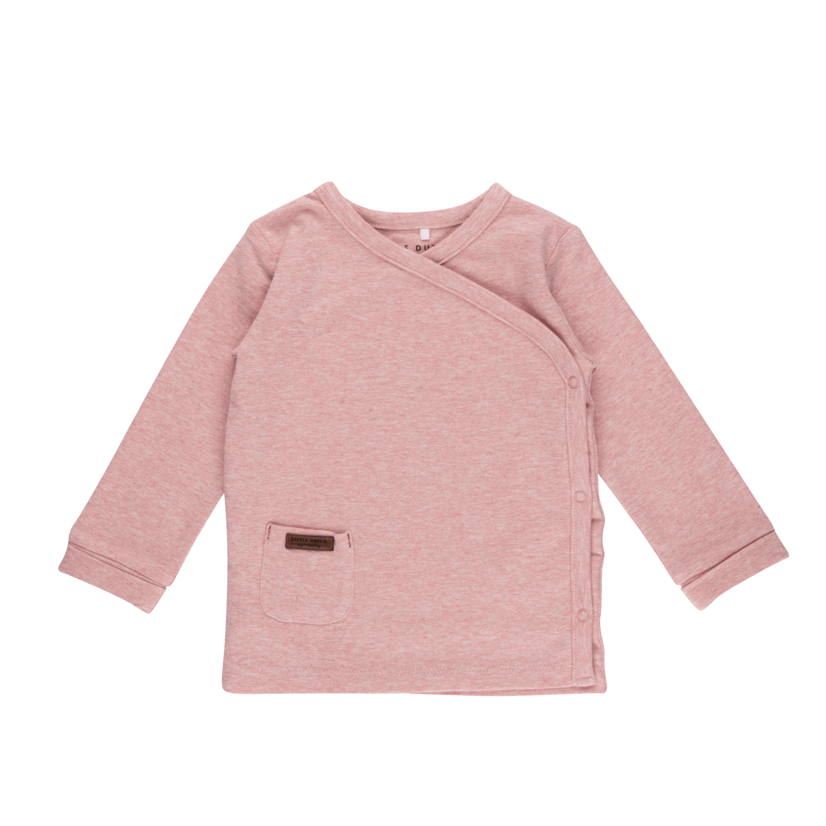 Little Dutch Overslag Shirt Pink Melange