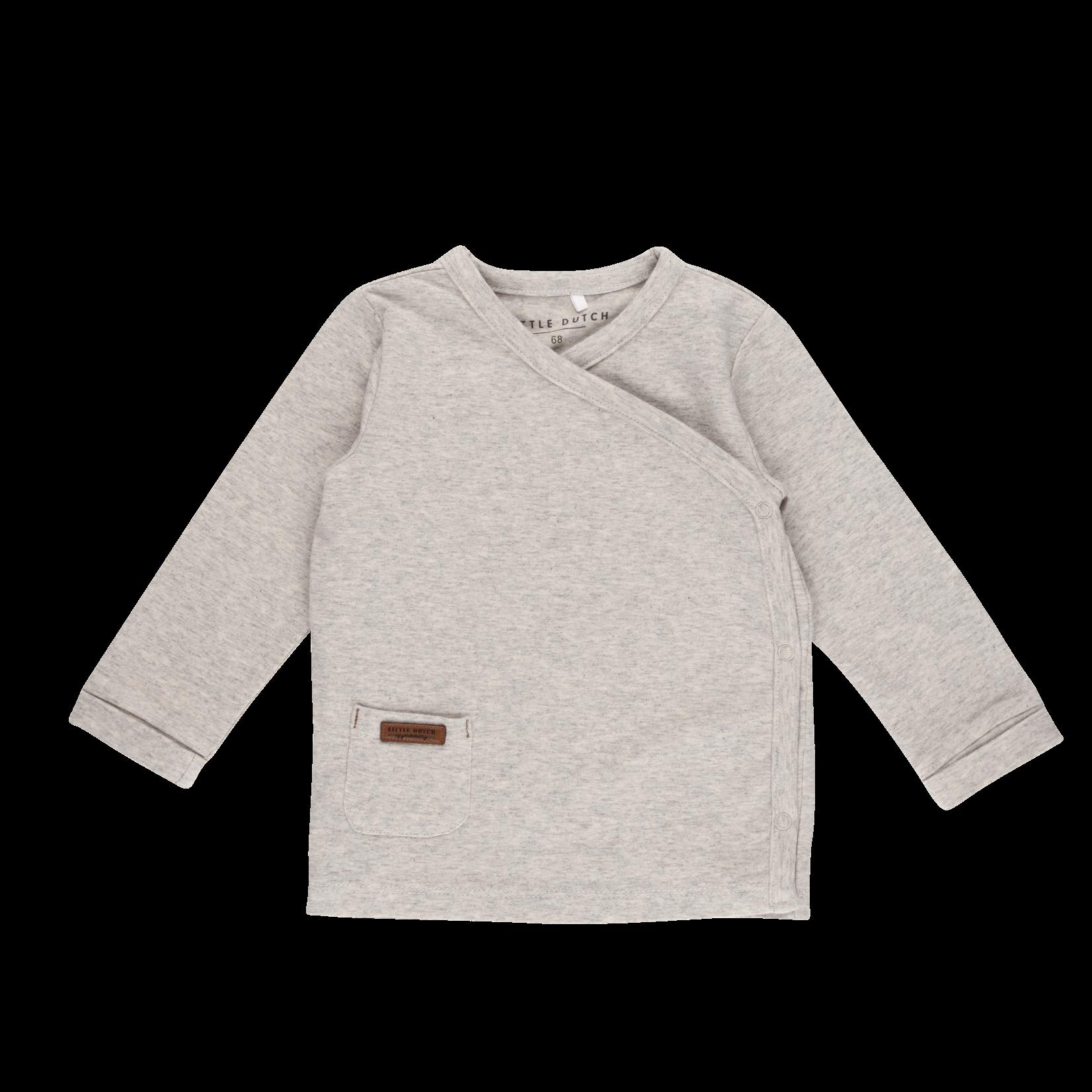 Little Dutch Overslag Shirt Grey Melange