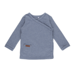 Little Dutch Overslag Shirt Blue Melange