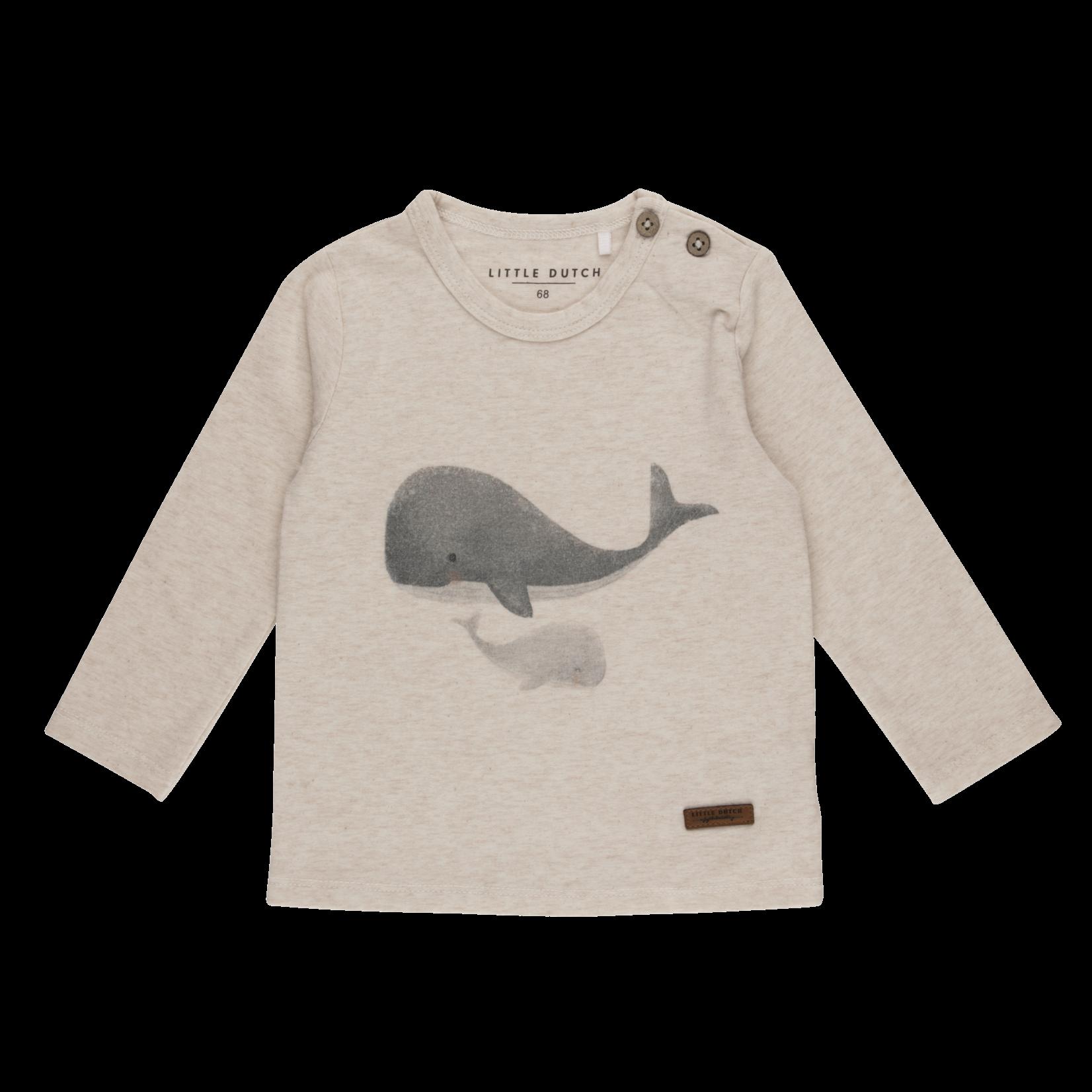 Little Dutch T-Shirt Lange Mouwen Walvis