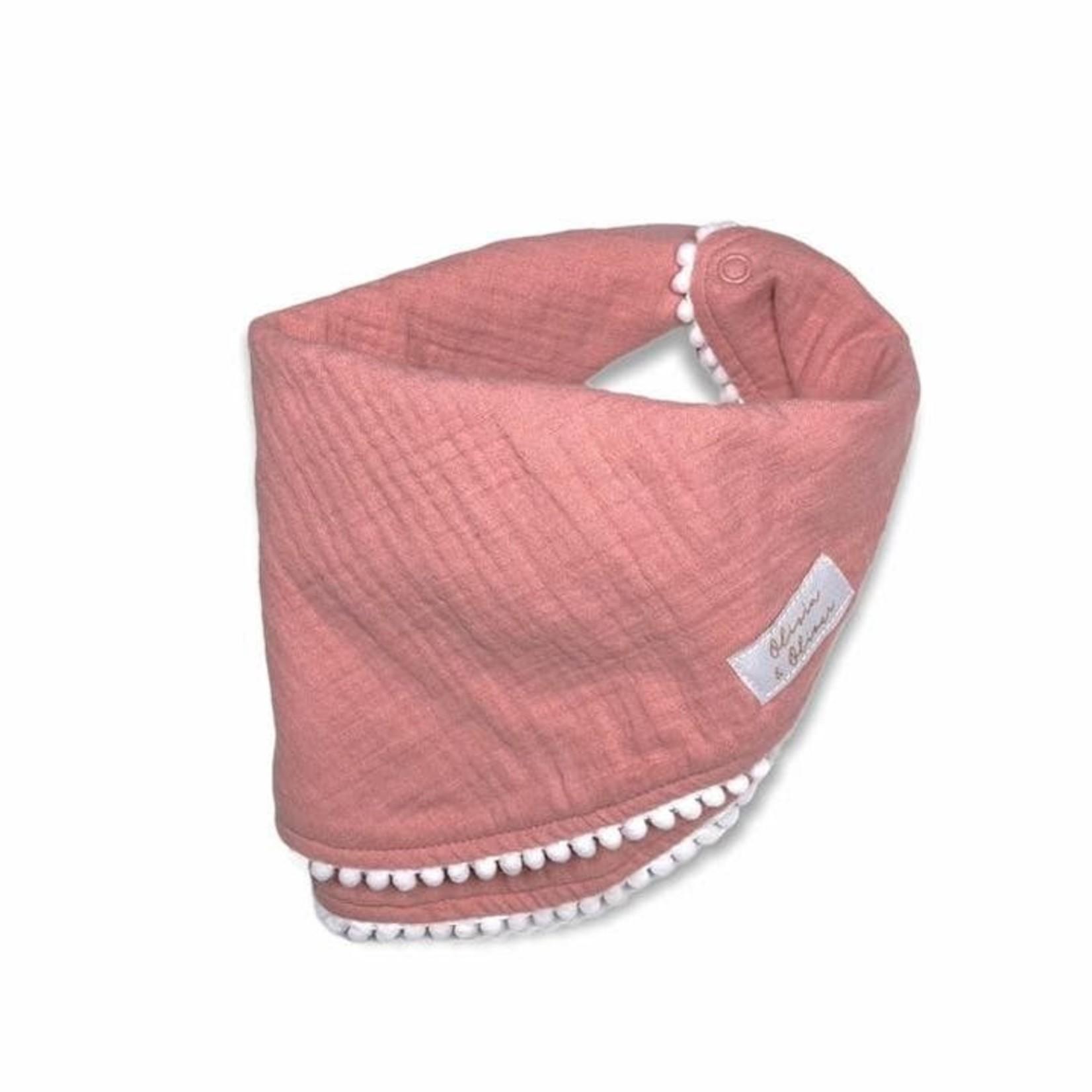 Bandana Roze met bolletjes