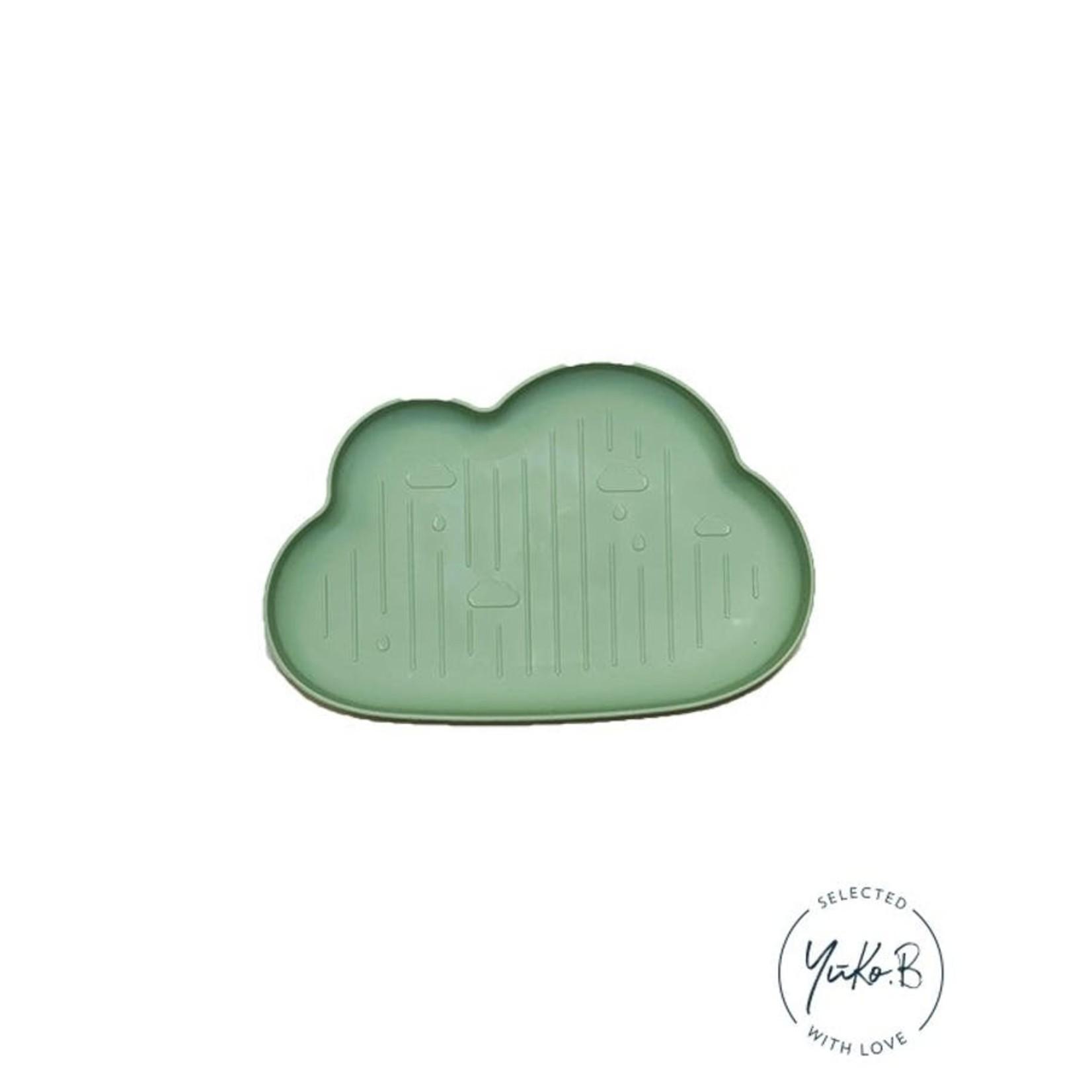 Yuko B Eetbordje Wolkjes Groen