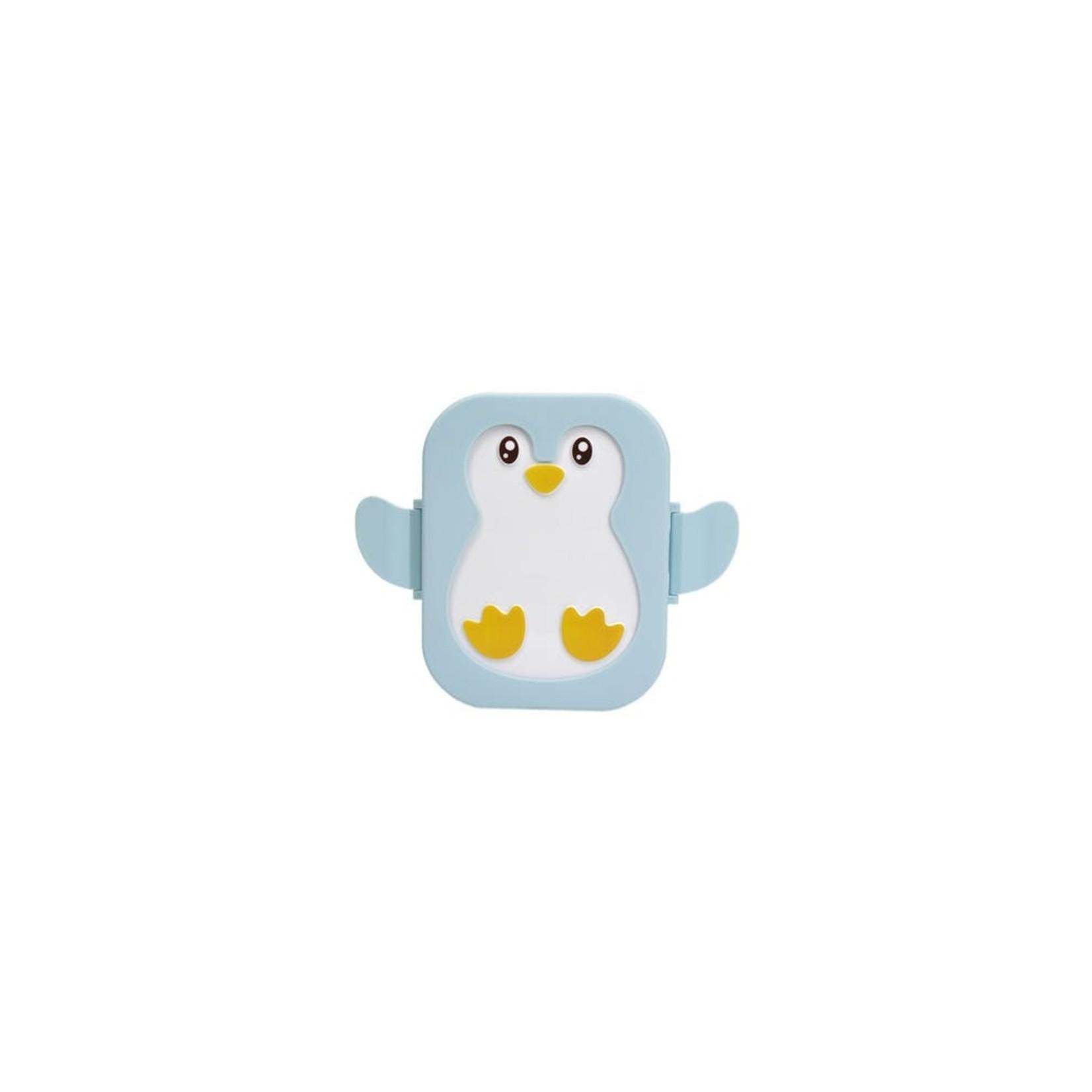 Yuko B Brooddoos Pinguin Blauw