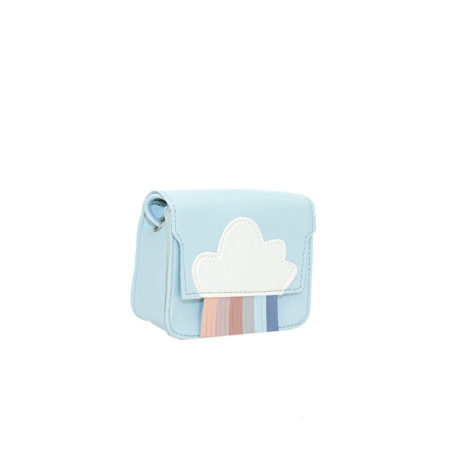 Yuko B Handtas Mini Regenboog Blauw