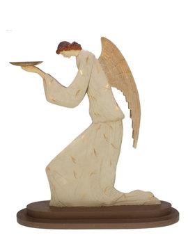Engel met schaal knielend