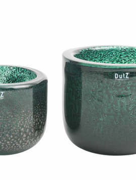 DutZ Bowl thick glass green