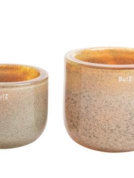 DutZ Bowl thick glass gold