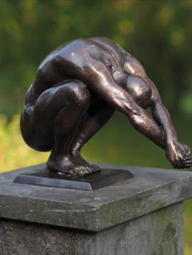 Bronzen beeld Duiker