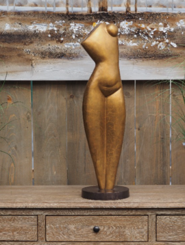Vrouwenbeeld modern gold