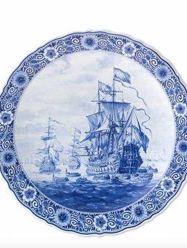 Delftsblauw bord Zeven Provincieën