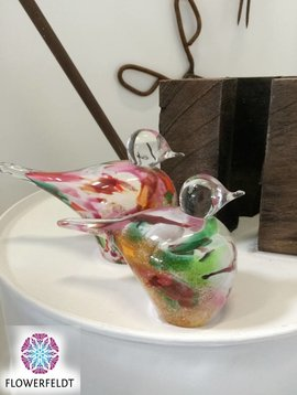 Fidrio Glazen vogels Mixed Colors