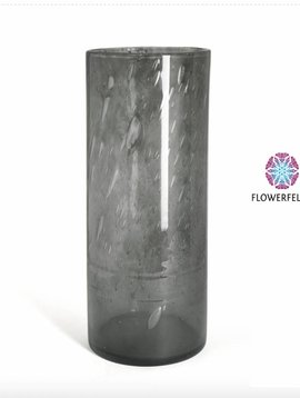 Fidrio Cilinder vazen smokey