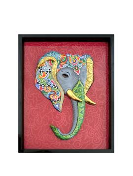 Schilderij Olifant 3-D