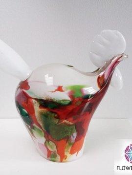 Fidrio Glazen kip Mixed Colors
