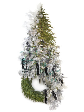 Goodwill Kerstboom krans Silver