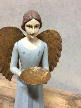 Engel blauw met schaal