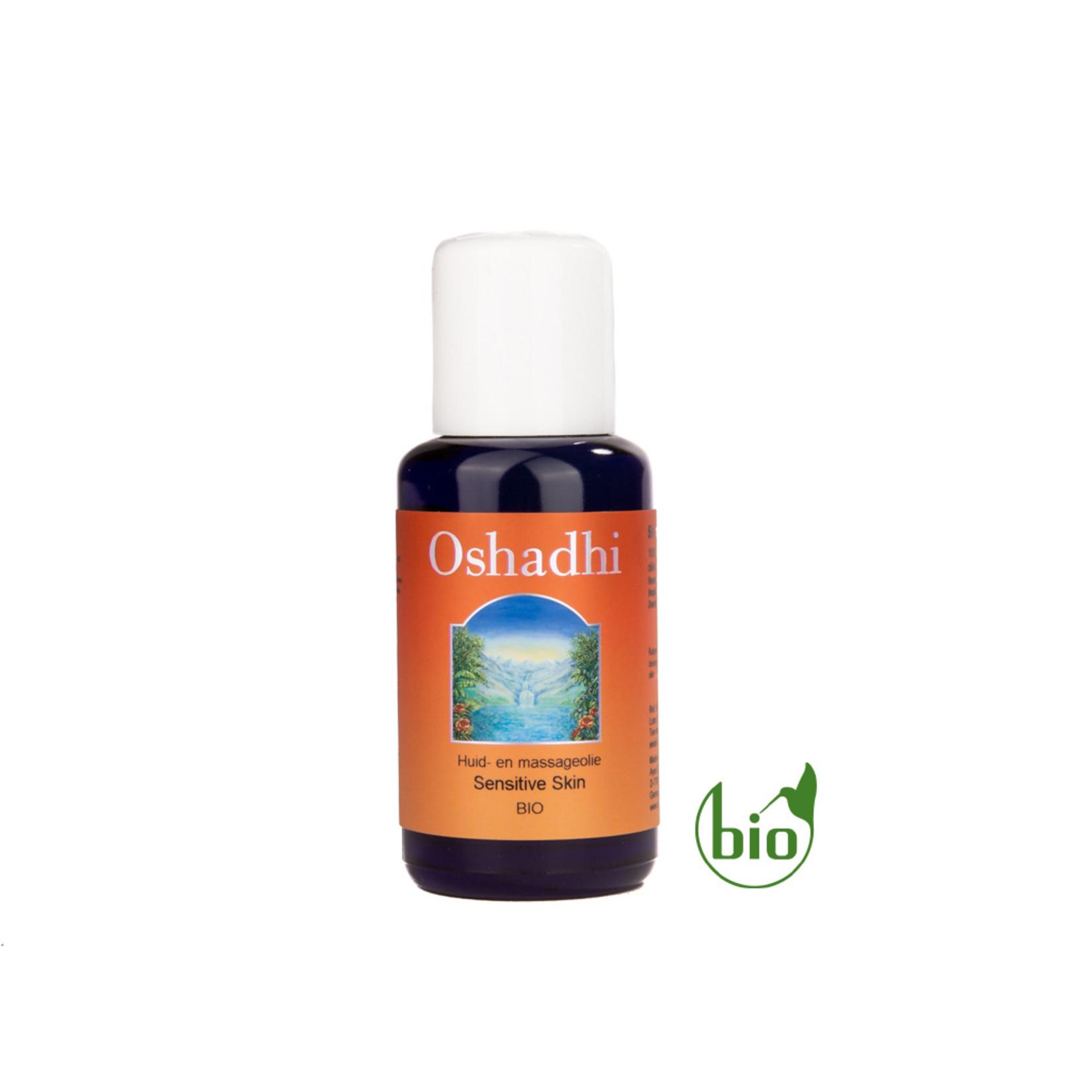 Oshadhi Sensitive Skin lichaam en massageolie Oshadhi - koestering - 50ml