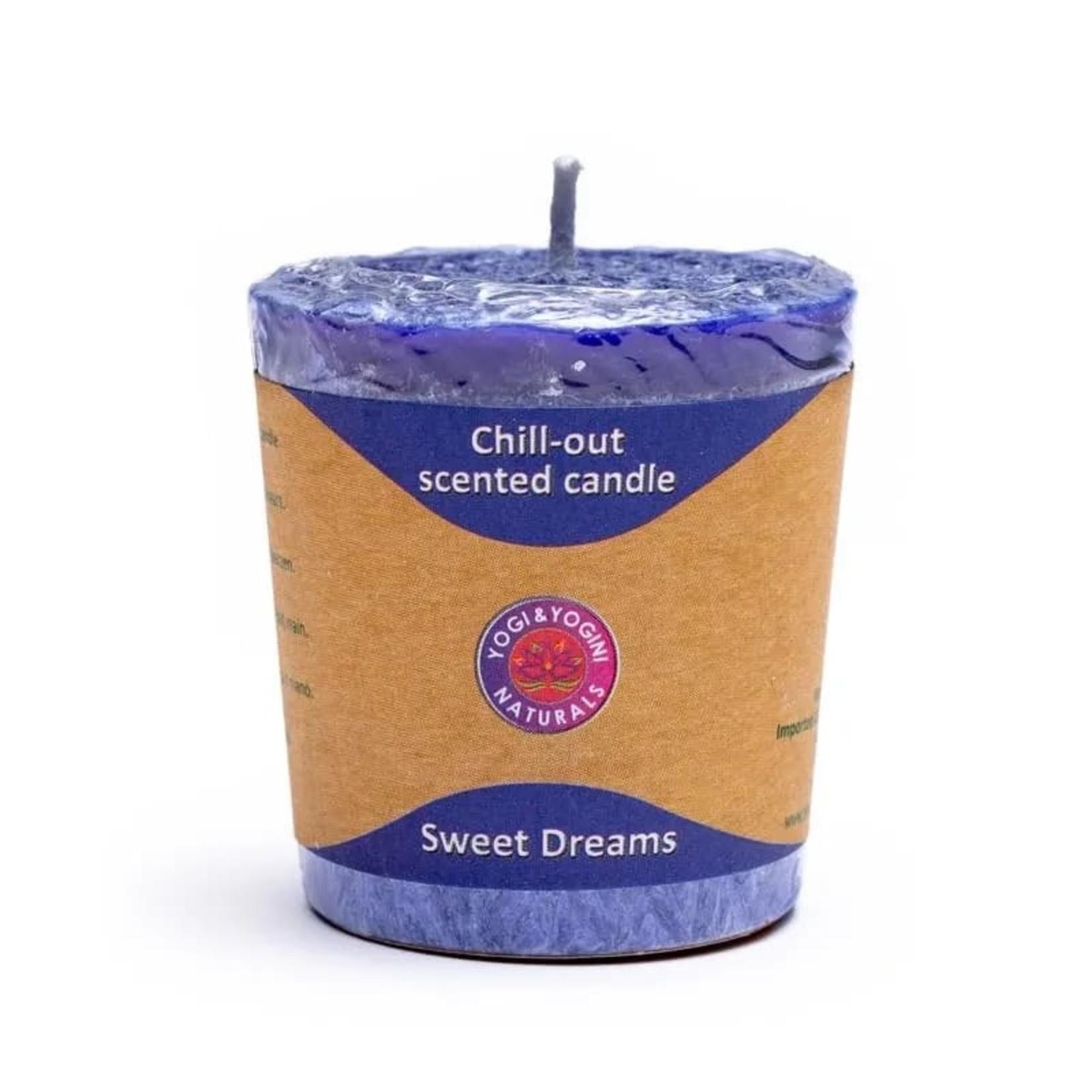 Yogi & yogini naturals Sweet Dreams geurkaarsje met lavendel, neroli en sinaasappel