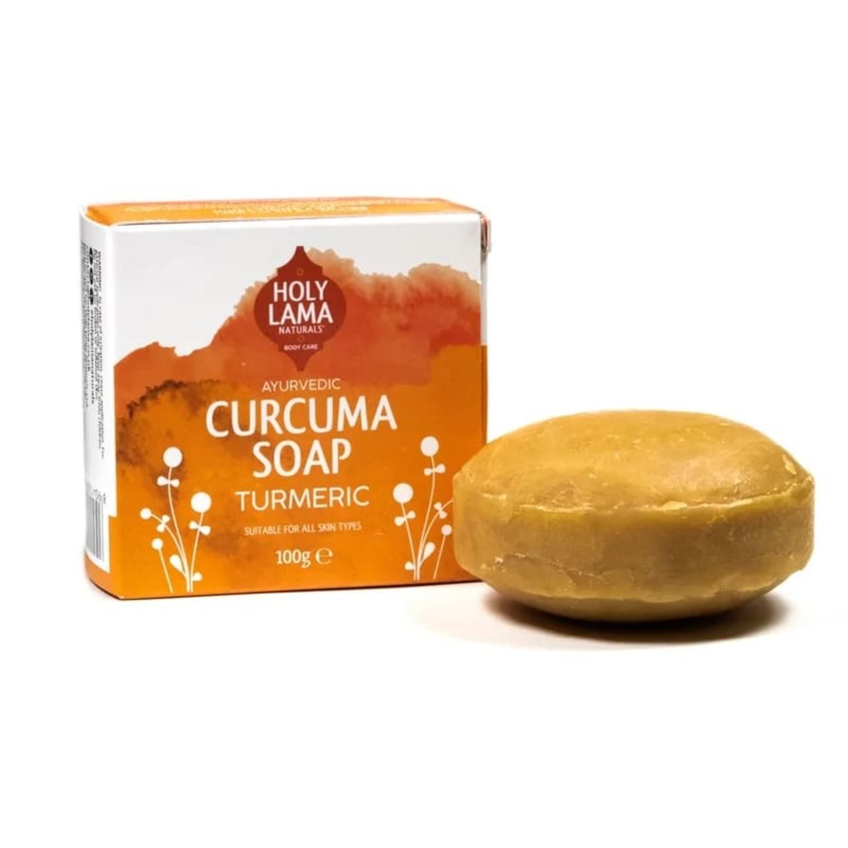 "Holy Lama Antibacteriële Ayurvedische zeep ""Curcuma"" met kokosolie en curcuma"