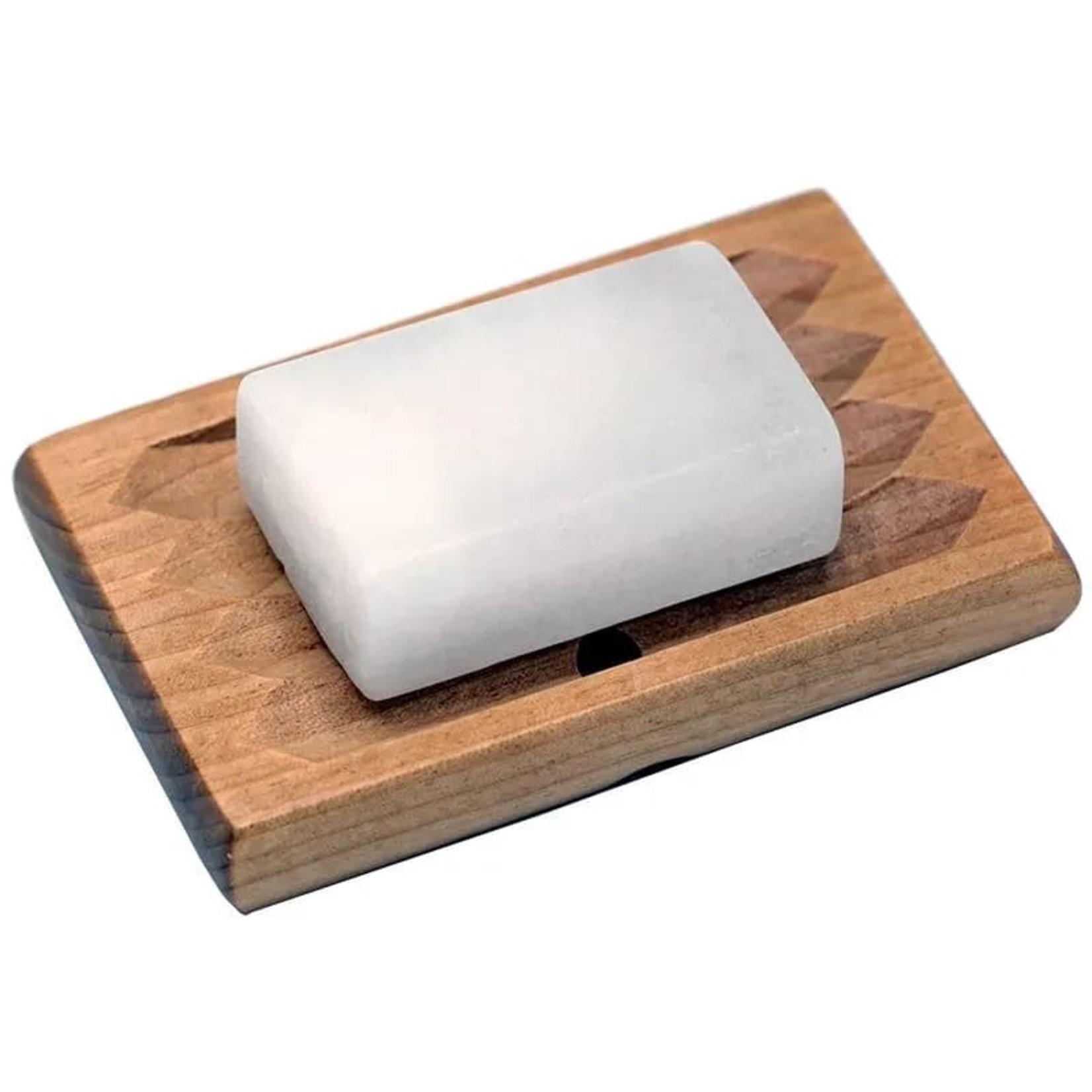 Houten zeepbakje - om langer te kunnen genieten van je zeepjes!