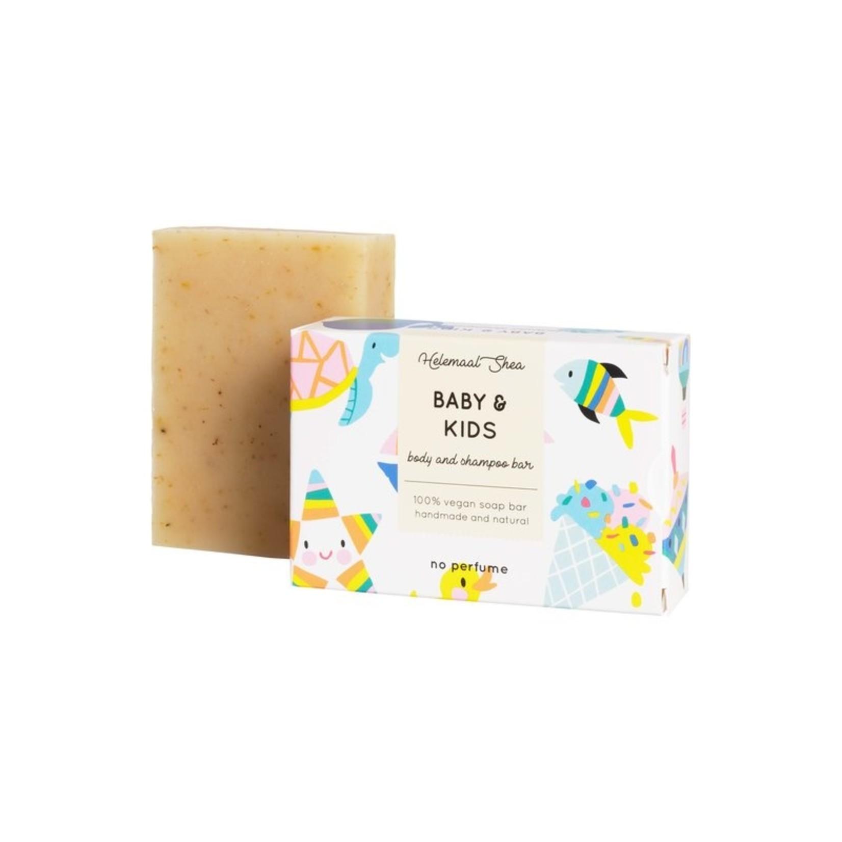 Helemaal Shea Baby & kids zeep - speciaal voor de gevoelige huid - met calendula en kamille - Helemaal Shea