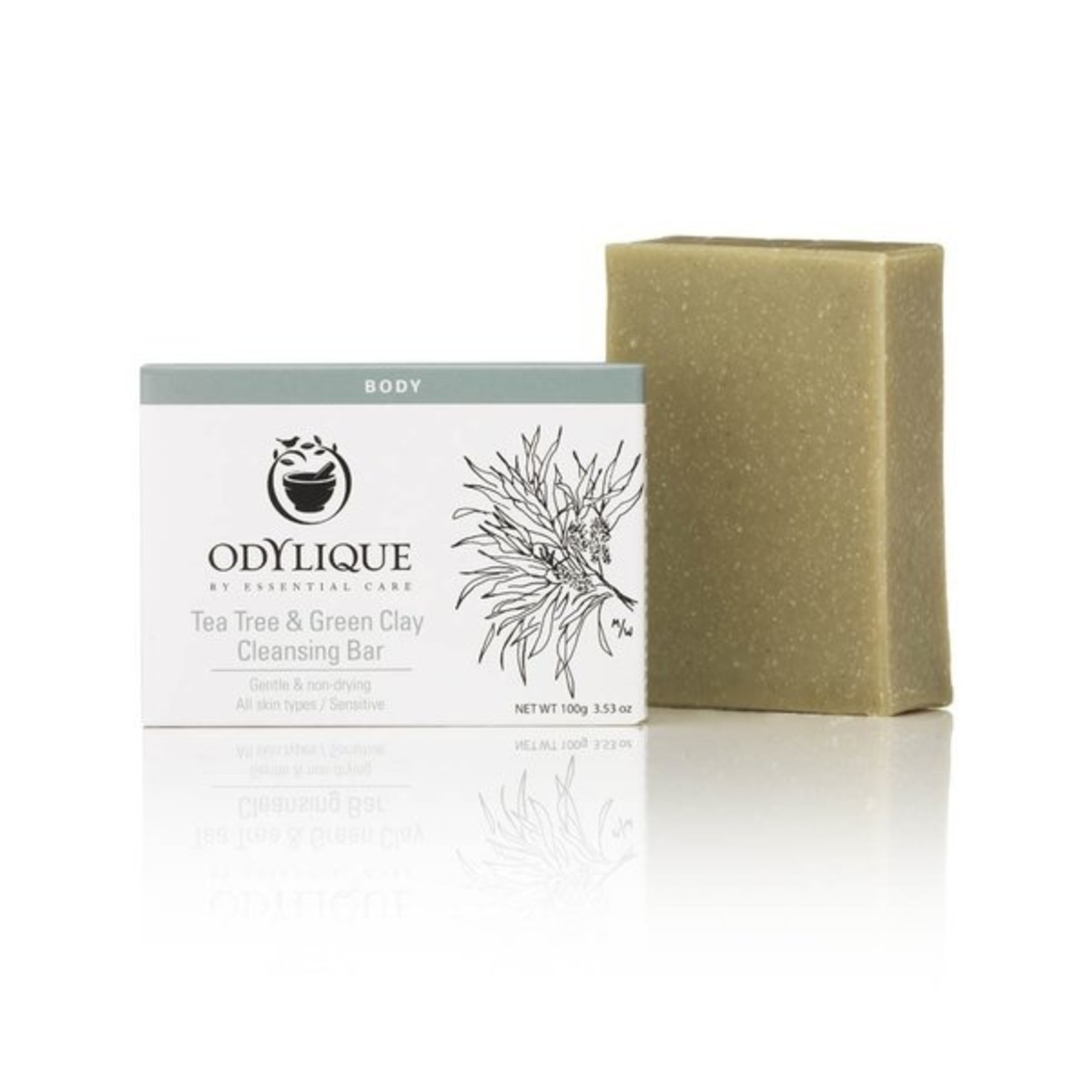Odylique Odylique tea tree & green clay cleansing bar - ontsmettend en zuiverend