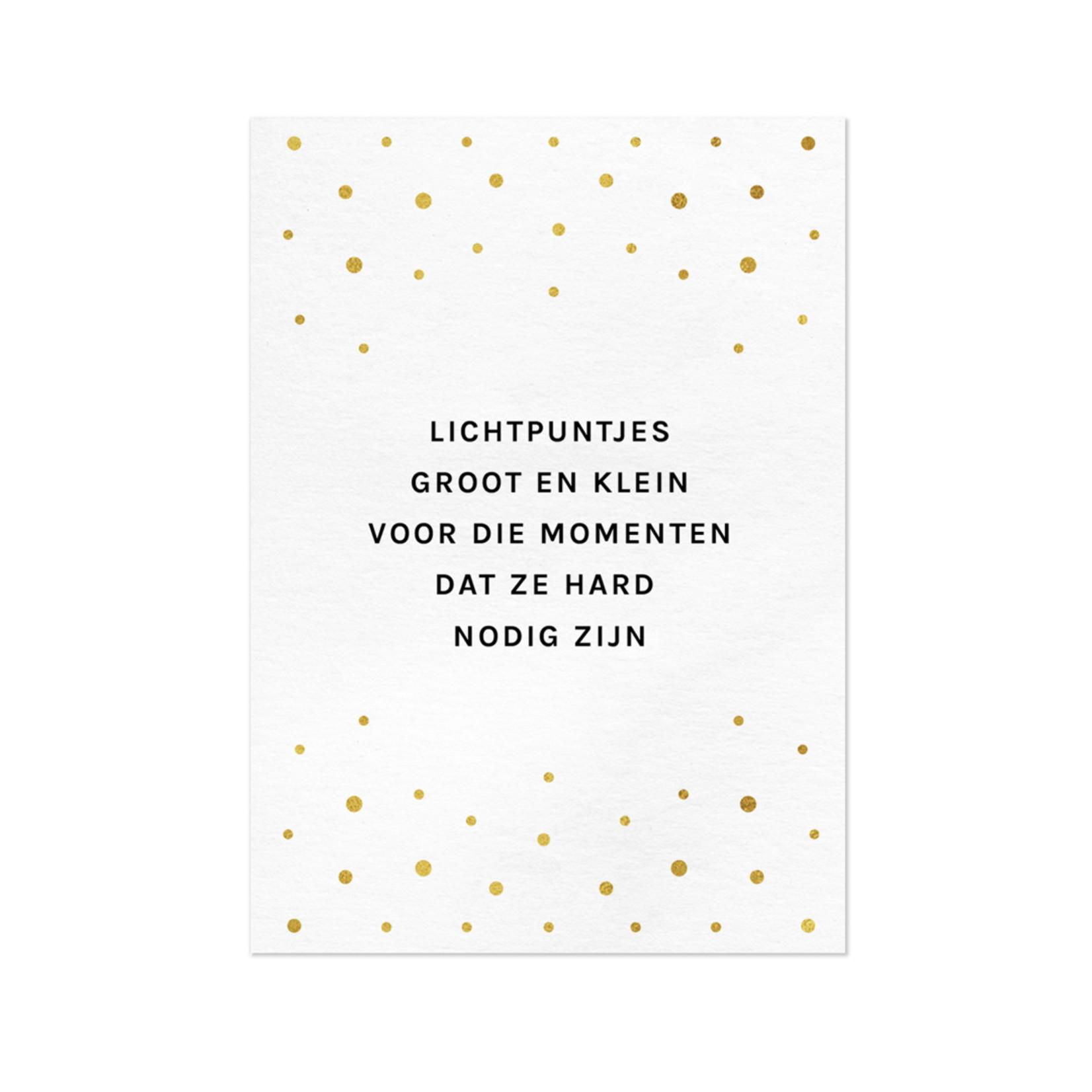 Wenskaart Lichtpuntjes - Letters and Lines