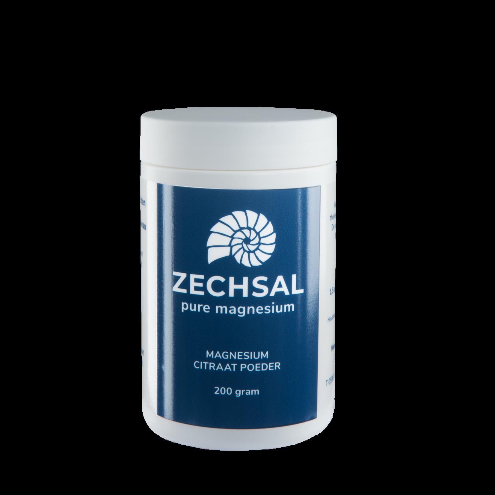 Zechsal Oraal magnesium Zechsal - magnesiumcitraat poeder - 200g