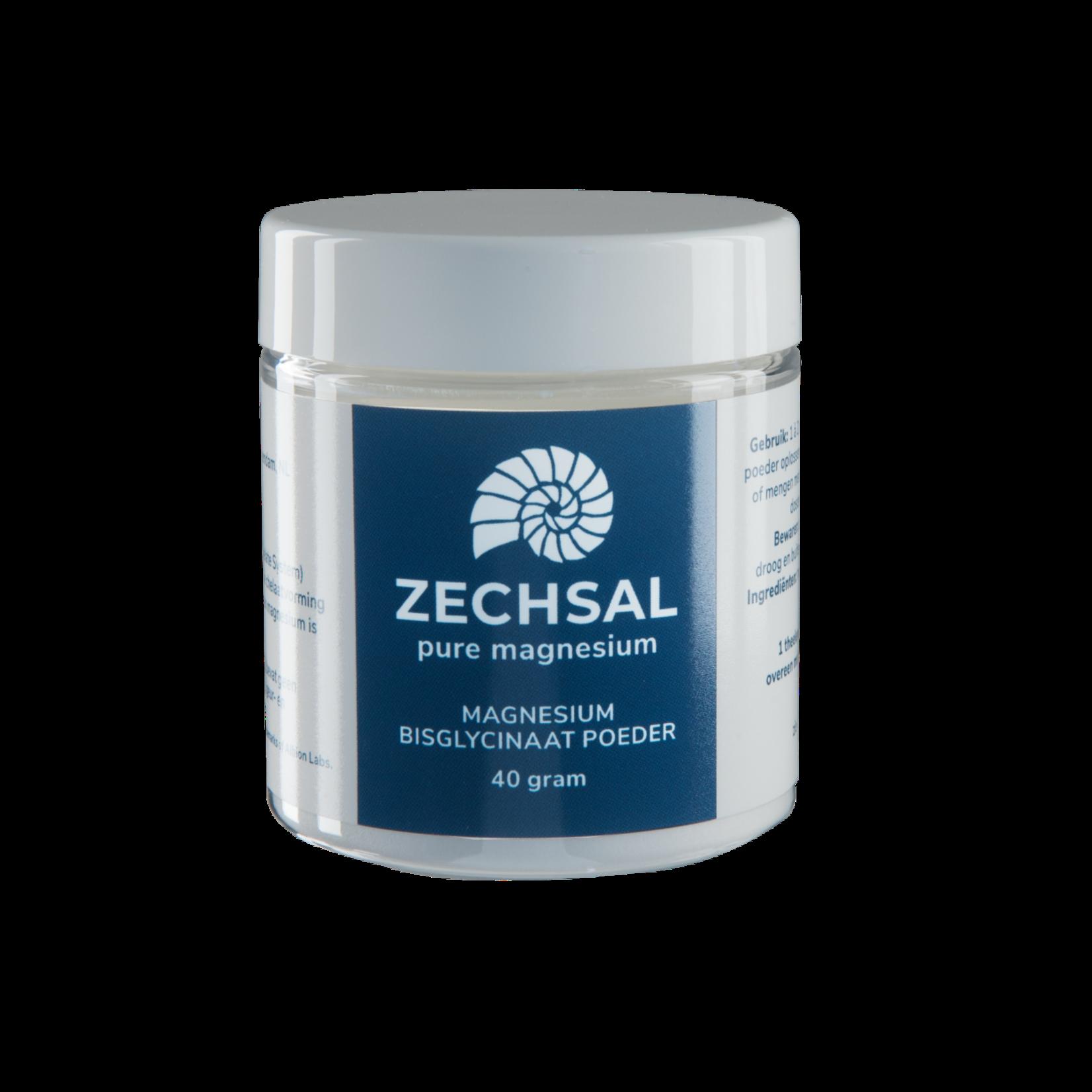 Zechsal Oraal magnesium Zechsal - magnesiumbisglycinaat poeder MINI 40g