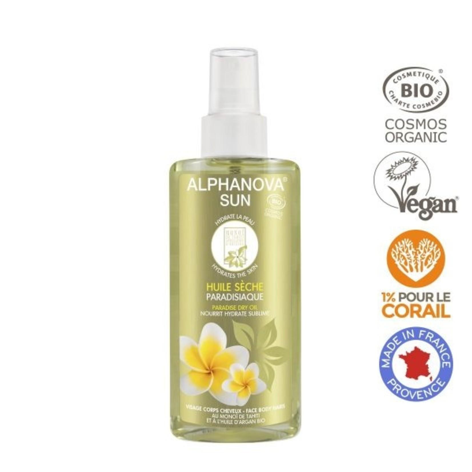 Alphanova Summer Collection Paradise Oil - verzorgende aftersun olie met monoi de tahiti