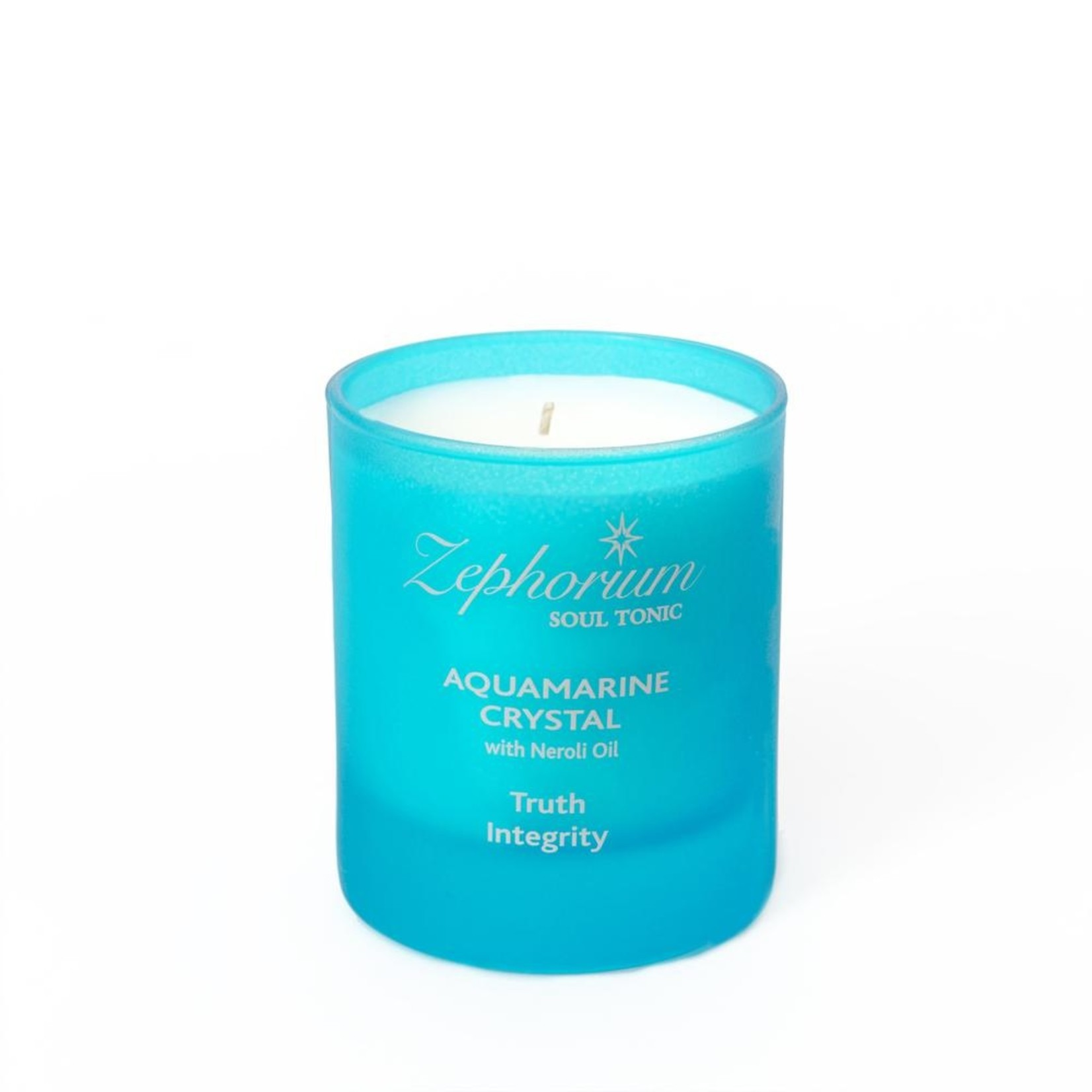 Zephorium Aquamarine aromatherapiekaars Zephorium - keelchakra